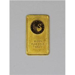 1 GRAM .999 GOLD BAR