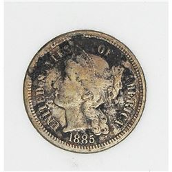 1885 THREE CENT NICKEL