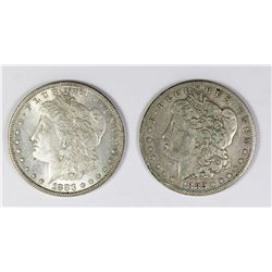 1882-S AND 1883 MORGAN SILVER DOLLARS