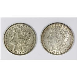 1883-O AND 1884 MORGAN SILVER DOLLARS