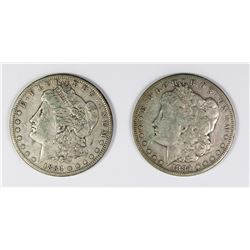 1884-O AND 1884-S MORGAN SILVER DOLLARS