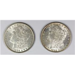 1885 AND 1885-O MORGAN SILVER DOLLARS