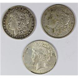 (3) SILVER DOLLARS