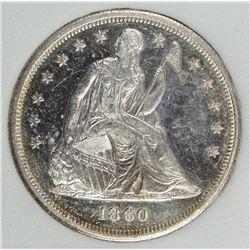 1860-O SEATED HALF DOLLAR
