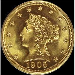 1905 $2.50 GOLD LIBERTY