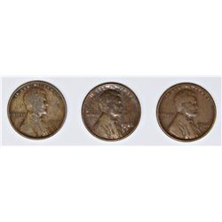 (3) LINCOLN CENTS