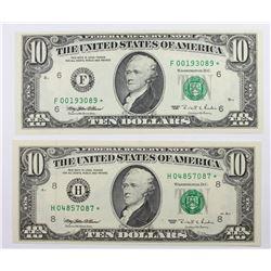 1995 $10.00 ST. LOUIS &  ATLANTA STAR NOTES