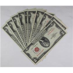 10 PIECE 1953 $2.00 U.S NOTES
