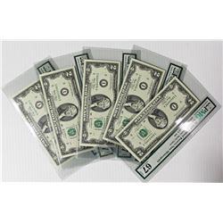 FIVE PCS. 2003 $2.00 MINNEAPOLIS FEDERAL RESERVE