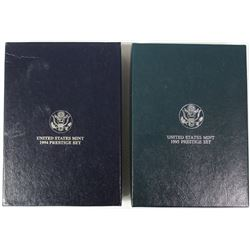 U.S. PRESTIGE SETS - 1994 AND 1995