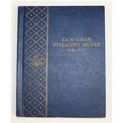 1858-1920 CANADA SILVER NICKEL SET: