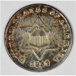 1851 THREE CENT SILVER
