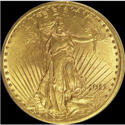 1911 $20 ST. GAUDENS GOLD