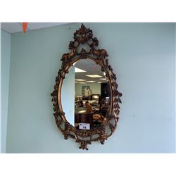 GOLD FRAMED ORNATE WALL MIRROR