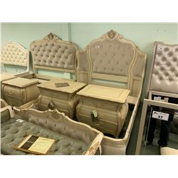 5 PCS MICHAEL ARMINI QUEEN SIZE WING MASON BEDROOM SUIT INCLUDING ; HEADBOARD, FOOTBOARD,