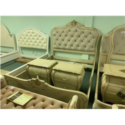 5 PCS MICHAEL ARMINI QUEEN SIZE LAVELLE COTTAGE BEDROOM SUIT INCLUDING ; HEADBOARD, FOOTBOARD,
