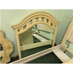 CURVED SLAT CREAM  STYLE WALL MIRROR
