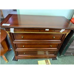 MAHOGANY ESPANOL 5 DRAWER DRESSER WITH MIRROR