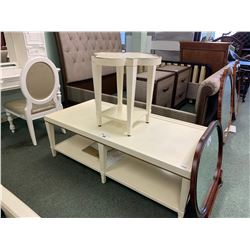 WHITE COSMOPOLITAN COCKTAIL TABLE & END TABLE