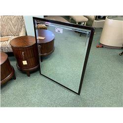 DARK BROWN MODERN RECTANGLE WALL MIRROR
