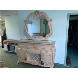 MICHAEL ARMINI LAVELLE 3 DRAWER 2 DOOR SIDEBOARD WITH WALL MIRROR