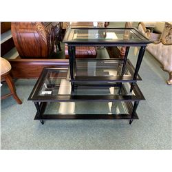 EBONY WOOD COCKTAIL TABLE & END TABLE