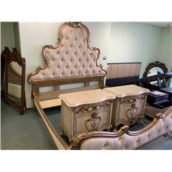 5 PCS MICHAEL ARMINI PLATINE DE ROYAL KING SIZE BEDROOM SUIT INCLUDING ; HEADBOARD,