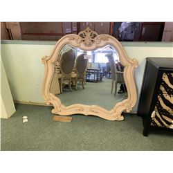 MICHAEL ARMINI LAVELLE WHITE WOOD DRESSER MIRROR