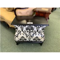 BLACK & WHITE PATTERN 3 DRAWER ACCENT CHEST