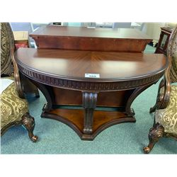 MARISOL DARK WOOD HALF CIRCLE HALL TABLE