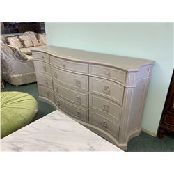 GREY WOOD 12 DRAWER ACCENT CHEST