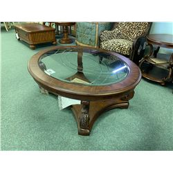 MICHAEL ARMINI VICTORIA PALACE OVAL COCKTAIL TABLE & 3 TIER END TABLE