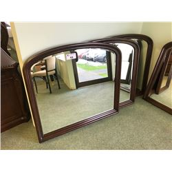 ALURA DARK WOOD CURVE TOP WALL MIRROR