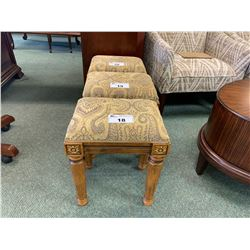 FLOWER PATTERN FABRIC TOP VANITY STOOL