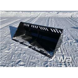 """(UNUSED) 84"""" SKID STEER SNOW BUCKET"""