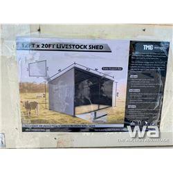 (UNUSED) 12 X 20 FT. LIVESTOCK SHED