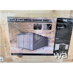 (UNUSED) 11 X 19 FT. SINGLE GARAGE METAL SHED