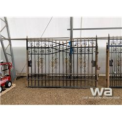 20 FT. HEAVY DUTY WROUGHT IRON DRIVEWAY GATES