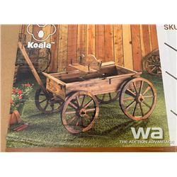 WOODEN 2 TIER FOUNTAIN WAGON