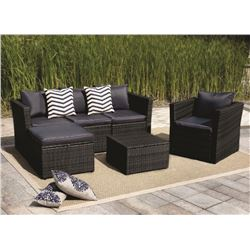 OUTDOOR FURNITURE SET WITH TABLE, SOFA, & CHAIR