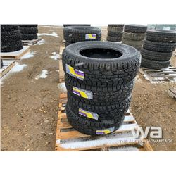 (4) GRIZZLY 265/65R17 TIRES