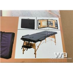 TWO SECTION FOLDING WOOD MASSAGE TABLE