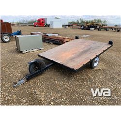 CUSTOM BUILT FLAT DECK TRAILER