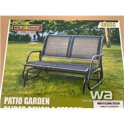 (UNUSED) GLIDER BENCH 2 PERSON DOUBLE SWING CHAIR