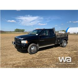 2003 DODGE 3500 DUALLY CREW CAB FLAT DECK PICKUP