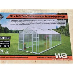 (UNUSED) TMG 8 X 20 FT. GREEN HOUSE