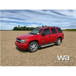 2002 CHEVROLET TRAILBLAZER SUV