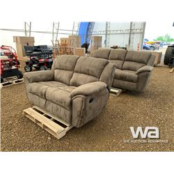 (2) PIECE RECLINING SOFA WITH LOVESEAT