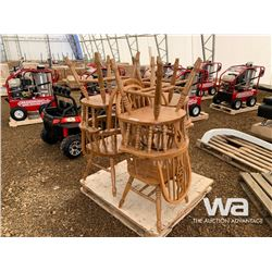 QUANTITY OF (6) OAK CHAIRS