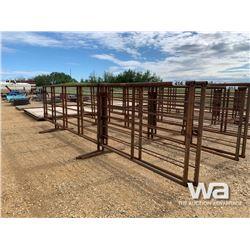 (2) FREESTANDING LIVESTOCK PANELS W/ GATES